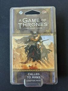 A Game of Thrones Card Game Chapter Pack Called To Arms  NEW & SEALED