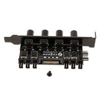 8 Channel Desktop Computer PCI Fan Controller Hub Splitter, 3Pin 4Pin Port