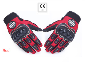 Gloves Scooter Motorcycle Touch Screen Red Counterpart Ce