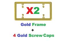2 Universal Gold Frames + 8 Gold Screw Caps