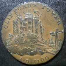 More details for halfpenny token 18th century - york 1795 clifford's tower - yorkshire d&h#63
