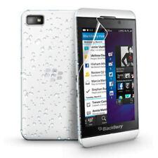 White 3D RAIN DROP DESIGN HARD BACK CASE COVER for BlackBerry Z10 BB 10 + Film