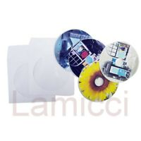 2000 CD DVD Paper Sleeves with Flap and Clear Window