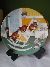 Country Kitties By Gre' Gerardi Rock And Rollers Plate Excellent Condition