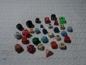 Collection of 30 Assorted Dice Die – Gaming Roleplaying 20 12 10 Sided