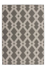 Teppich Modern Flachflor Geometr. Muster Teppiche 3D-Effekt Taupe 160x230cm