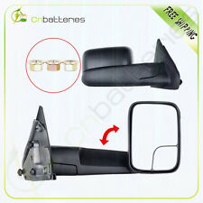 Pair For 02-08 Dodge Ram 1500 03-09 2500 3500 Side Mirrors Flip-Up Manual Towing