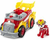 Paw Patrol Marshall Deluxe Vehicle Mighty Pups Fire Truck Lights Sounds Figure