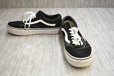 Vans Old Skool Platform Casual Shoe - Men's 7.5, Women's 9 - Black