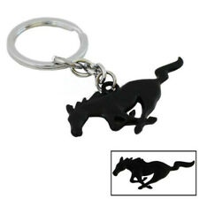 Black Pony Horse Key Fob Chain Keychain Ring For Ford Mustang GT 500 Cobra, etc