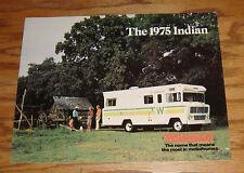 Original 1975 Winnebago Indian Sales Brochure 75 D-19 D-21 D-23 D-23L D-25
