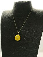Natural BALTIC Amber Pendant Unpolished Round Bead Ball Silver Gold Plated 1,7 g 9933