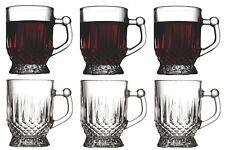 Pasabache Set of 6 Tea Glasses with Handles. Glass Tea Mugs in Gift Box