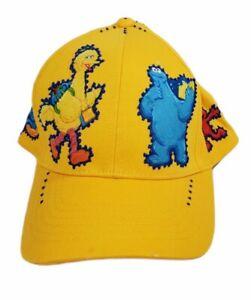 New Youth/Teen Yellow Sesame Street Baseball Snapback Cap Cookie Monster, Elmo