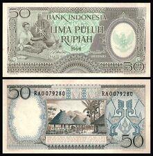 Indonesia 50 RUPIAH 1964 P 96 UNC
