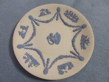 Wedgewood Blue Jasperware Cupid with Cherubs and swags decorative 9'' plate