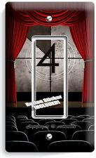 TV ROOM HOME MOVIE THEATER BIG SCREEN SINGLE GFCI LIGHT SWITCH WALL PLATE COVER