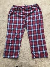 CW CLASSICS PAJAMA PJ LOUNGE PANT RED WHITE PLAID SLEEPWEAR UNISEX 4X NEW
