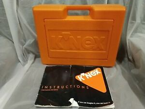 KNEX Intermediate Set #50015 Orange Hard Plastic Case Instructions Manual 1992