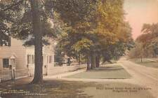 RIDGEFIELD, CT ~ MAIN ST. SOUTH FROM KING'S LANE, GEO. A. MIGNEREY PUB ~ c.1930s