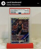 2019-20 Panini Donruss Optic Fanatics #16 Luka Doncic Mavericks PSA 10 GEM 📈