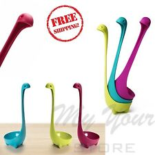 Loch Ness Ladle Nessie Monster Spoon Cute Soup Punch Standing Kitchen Set of 3