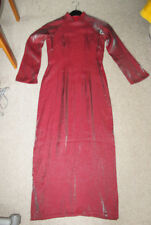 Asia China Kleid - rot - Ao Dai aus Vietnam in 34/36