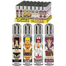 SET DI 4 ACCENDINI CLIPPER SAINTS Da Collezione Lighter Gift Box Regalo Girls