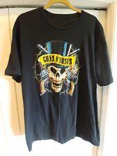Guns And Roses Skull Guns Destroy T Shirt Roses Hat Mens Size L Vintage