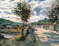 Seine at Bougival Claude Monet Fine Art Painting Print Canvas Home Wall Decor