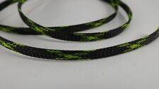 black & green 1/4 3FT BRAIDED EXPANDABLE FLEX SLEEVE WIRING LOOM WIRE COVER, PET
