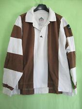 64d895898d Maillot Rugby Adidas Coton Marron et Blanc Vintage 90'S Equipement - 162