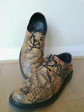 Men  Vintage Rare Dr Marten Koi Fish Tattoo Lace Up Shoes Size UK 10