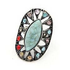 Rhinestone Alloy Stone Costume Rings
