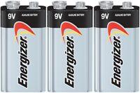 3 Energizer Max 9V 9 Volt Alkaline Batteries