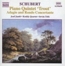 "SCHUBERT: PIANO QUINTET ""TROUT""; ADAGIO AND RONDO CONCERTANTE, D. 487 NEW CD"