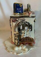 Blue Sky Claywoks Heather Goldminc Pinkey's Laundry Tealight House Original Box