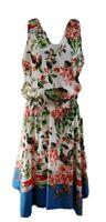 Tommy Hilfiger Women's Floral Print Smock Waist Flare Dress Size 14 NWT $129.50