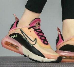 Nike Air Max 2090 CT1290-700 Barely Volt Pink Black Women's Running Casual Shoes
