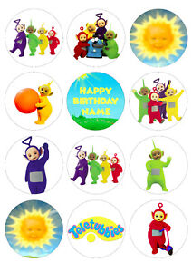 Teletubbies Cupcake Toppers | Icing / Wafer Paper | Edible Print