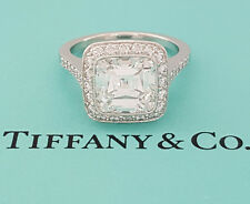 Tiffany & Co 3.64 ct Platinum Legacy Cut Diamond Engagement Ring F / Flawless