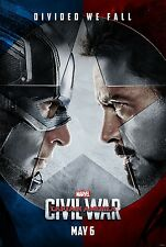 "Marvel CAPTAIN AMERICA CIVIL WAR 2016 Advance DS 2 Sided 27x40"" US Movie Poster"