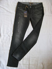 Paige Skyline JEANS Donna Stretch Denim w27/l34 extra low waist Skinny Slim Fit