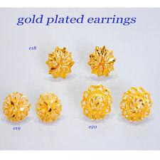 stud Classic costume jewelry u 51 indian Gold Plated stud Earrings yellow hoop