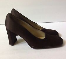 Kenneth Cole New York Women's Brown Canvas Heel  Sandals Italy  Sz 38