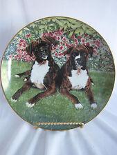Togetherness Plate Boxer Dogs Collection Simon Mendez Danbury Mint B4663