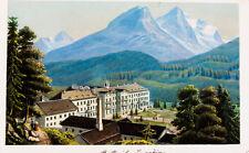 1870 Schweiz Graubünden Engadin St. Moritz kolorierte Aquatina-Ansicht