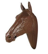 Life Sized Molded Plastic Brown Horse Head Mouth Opens for Bit Bridle Display