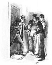 Sherlock HOLMES IL GRECO interprete da SIDNEY Paget 7x5 pollici RISTAMPA