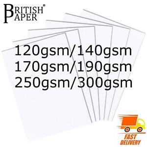 A4 A3 WHITE CARD SMOOTH CRAFT PAPER PRINTER THICK MEDIUM THIN REAM GSM CARDBOARD